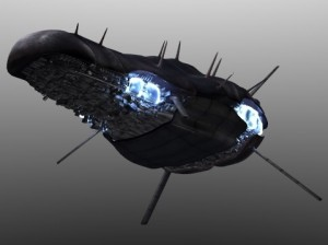 Space Ship (Bottom View)