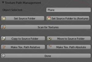 Texture Path Managementパネル