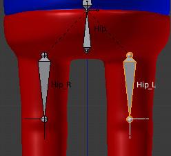 足のボーン配置