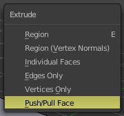 Push/Pull Faceメニュー