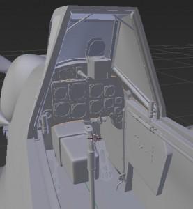 BF109G6コックピット・モデリング