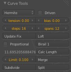 Curve Toolパネル