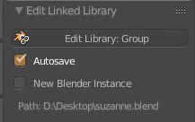 Edit Linked Libraryパネル