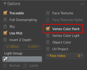 Vertex Paint Color