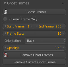 Ghost Framesパネル
