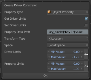 driver constraint menu