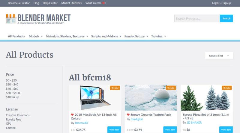 Blender Market sale