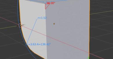 Addon :長さ・角度・円周長・半径などの表示に(MeasureIT)