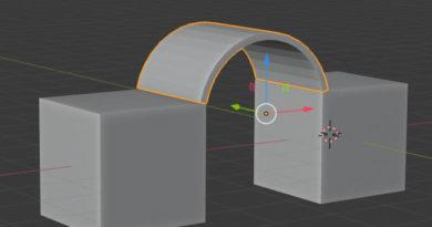 Addon :簡単に指定位置にアーチ状の形状を作るアドオン(Three Point Arch Tool)