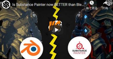 Substance PainterとBlenderの自動UV展開機能の比較
