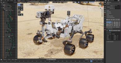 火星探査ローバー「Perseverance」の3Dモデル配布